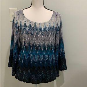 Beautiful Alfani Blouse with long sleeve size 10